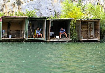 Fishing cabins on the Omis river