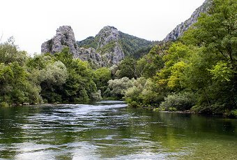 View of the Omis River